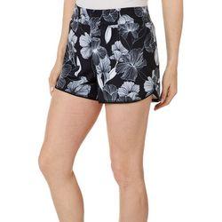 Brisas Womens Breezy Floral Print Shorts