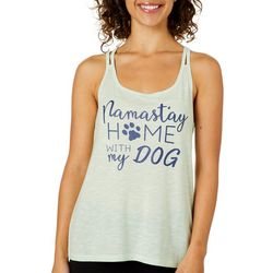 Brisas Womens Namast'ay At Home With My Dog Tank Top