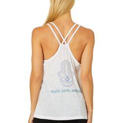 Brisas Womens Vital Peace. Love. Meditate. Tank Top