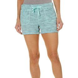 Brisas Womens Scratchy Stripe Cuffed Hem Shorts