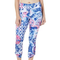 Brisas Womens Elite Comfort Splatter Print Crop Leggings