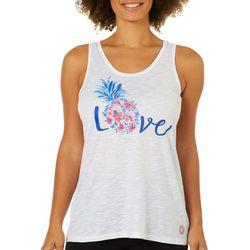 Brisas Womens Pineapple Love Tank Top