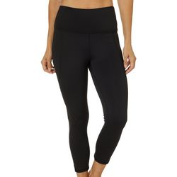 Brisas Womens Lets Vent Solid Capri Leggings
