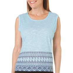 Brisas Womens Subliminated Back Detail Tank Top