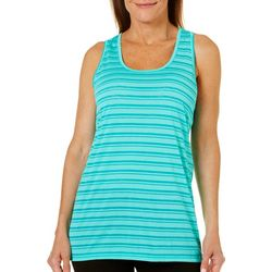 Brisas Womens Stripe Print Racerback Tank Top