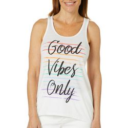Brisas Womens Good Vibes Only Tank Top
