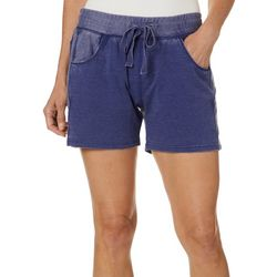 Brisas Womens Mineral Wash Pull On Shorts