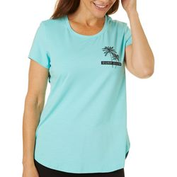 Brisas Womens Surf Club Graphic Short Sleeve Top