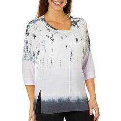 Brisas Womens Tie Dye Tunic Top