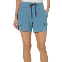 Brisas Womens Solid Cargo Pocket Shorts