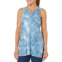 Brisas Womens Tie Dye Tunic Tank Top