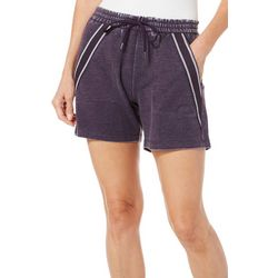 Brisas Womens Mineral Wash Stripe Detail Shorts