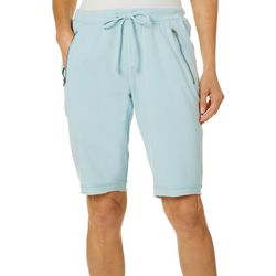 Brisas Womens Zipper Pocket Bermuda Terry Shorts