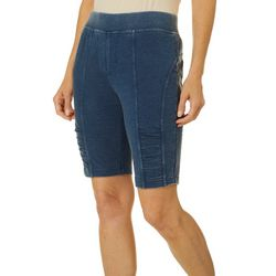 Brisas Womens Mineral Wash Solid Pull On Shorts