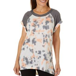 Brisas Womens Tie Dye Raglan Sleeve Top