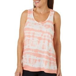 Brisas Womens Tie Dye Scoop Neck Tank Top
