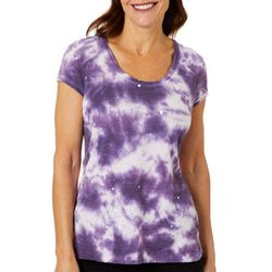 Brisas Womens Tie Dye Short Sleeve Top