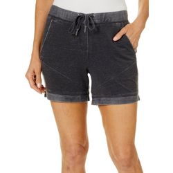 Brisas Womens Mineral Wash Terry Rolled Cuff Pull On Shorts