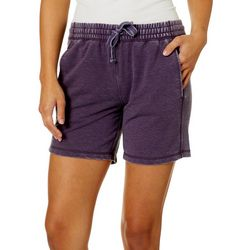 Brisas Womens Mineral Wash Drawstring Pull On Shorts