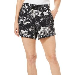 Brisas Womens Floral Print Drawstring Shorts