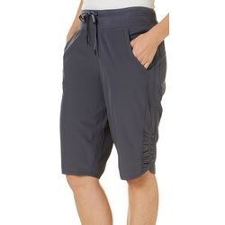 Brisas Womens Side Shirred Bermuda Shorts