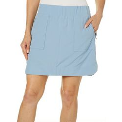 Brisas Womens Solid Pull-On Skorts