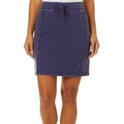 Brisas Womens Mineral Wash Drawstring Skirt