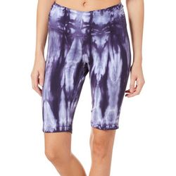Brisas Womens Tie Dye Bermuda Bike Shorts