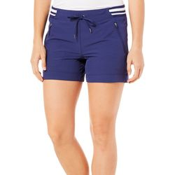 Brisas Womens Solid Stripe Shorts