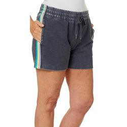 Brisas Womens Mineral Wash Side Stripe Shorts