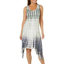 Brisas Womens Tie Dye Sharkbite Dress