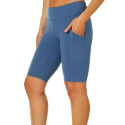 Brisas Womens Solid Bermuda Bike Shorts