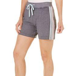 Brisas Womens Pastel Stripe Drawstring Shorts