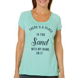Brisas Womens Tie Dye Print T-Shirt