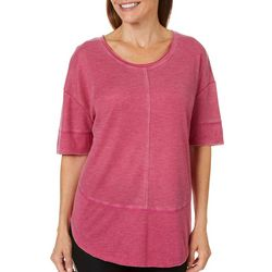 Brisas Womens Washed Henley Top