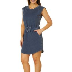 Brisas Womens Mineral Wash Terry Dress