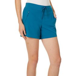 Brisas Womens Solid Drawstring Shorts