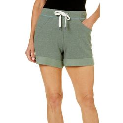 Brisas Womens Drawstring Waist Roll Cuff Shorts