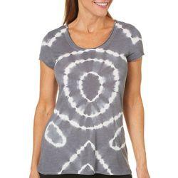 Brisas Womens Circular Tie Dye Top