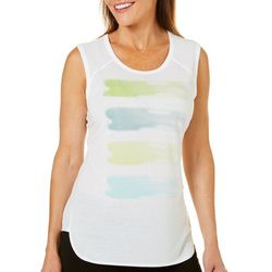 Brisas Womens Brushstroke Print Tank Top