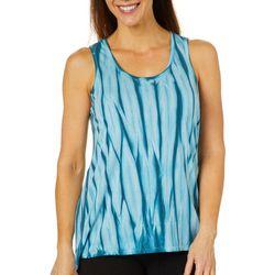 Brisas Womens Knit Tie Dye Tank Top