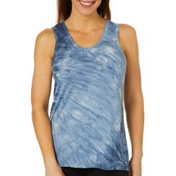 Brisas Womens Marble Open Back Tank Top