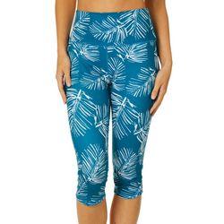 Brisas Womens Palm Print Bermuda Shorts