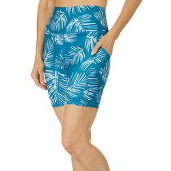 Brisas Womens Elite Palm Print Bike Shorts