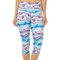 Brisas Womens Agate Rock Print Capri Leggings