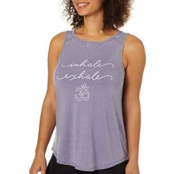 Brisas Womens Inhale Exhale Screen Print Tank Top