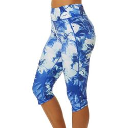 Brisas Womens Elite Tropical Floral Capri Leggings