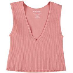 Poof Juniors Deep V-neckline Crop Top