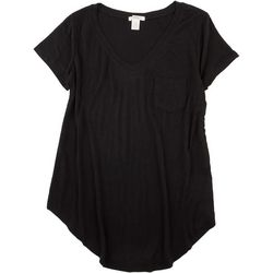 BOZZOLO Womens Solid Flowy Pocket Top