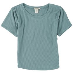 BOZZOLO Juniors Ribbed Cropped top